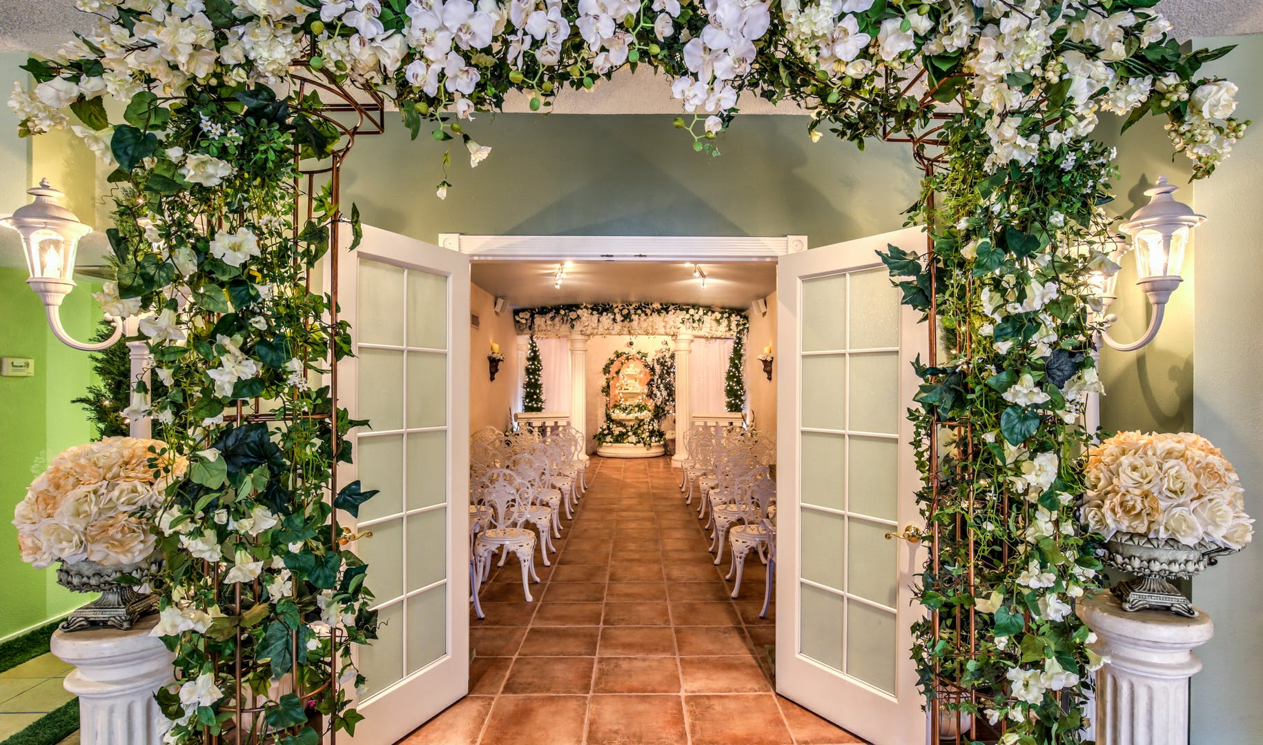 The Wedding Garden Chapel in Vegas