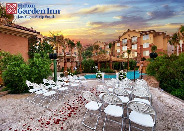 Las Vegas Hotel Wedding Hitlon Garden Vegas Weddings
