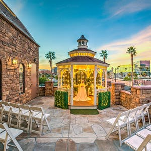 Vegas weddings simply elegant venues packages the terrace gazebo an outdoor wedding venue junglespirit Image collections