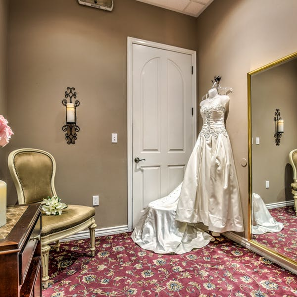 Dressing Room with wedding gown