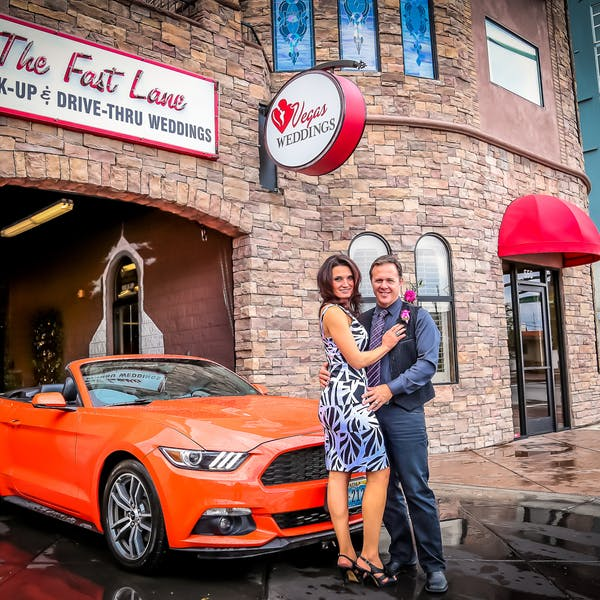 Get married in The Fast Lane, Las Vegas wedding chapel