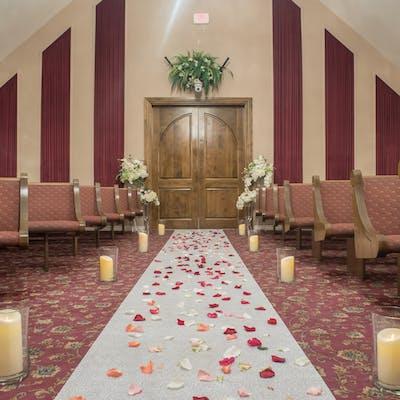 Petals and Candlelit Wedding Aisle