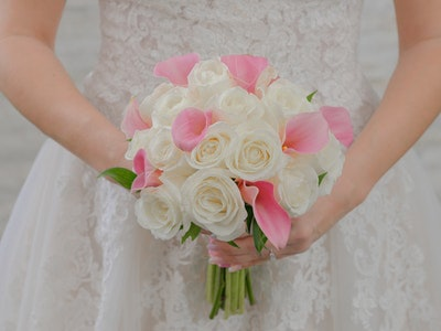 Evangeline - rose and calla lily mix bouquet
