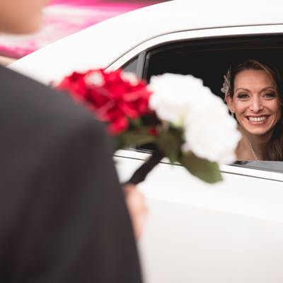 First Glance Extra Wedding Limo