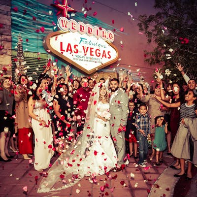 Royal Experience Flower Shower - Vegas Weddings Photo Session