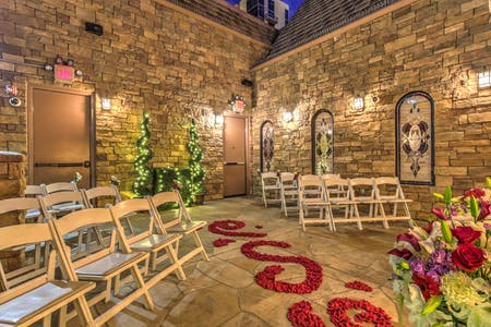 The Terrace Gazebo Aisle Of Rose Petals Outdoor Wedding Chapel