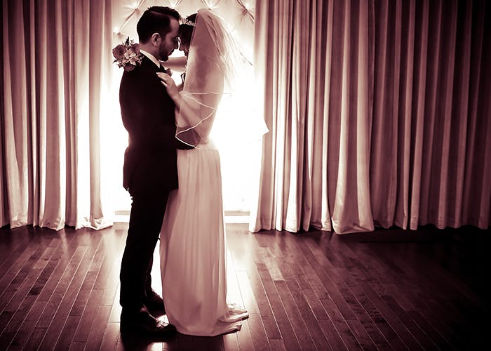 A sexy, moody first dance shot
