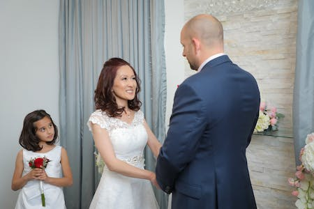 Vow Renewal And Their Daughter In The Chapel