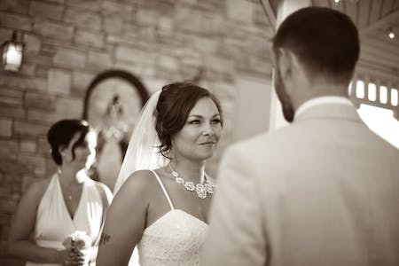 A Bride During Her Wedding Ceremony