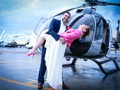 Vegas Strip Helicopter Wedding