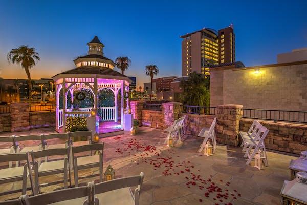 The Terrace Gazebo outdoor weddings