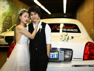 Newlyweds in The Fast Lane - Drive Thru Packages Graphic