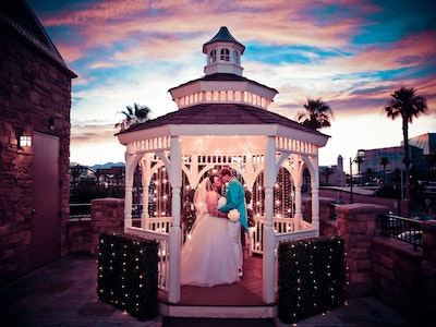 Sunset wedding in Terrace Gazebo - Outdoor Packages Graphic