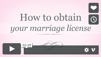 How to obtain your marriage license